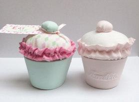 Cupcake in stof