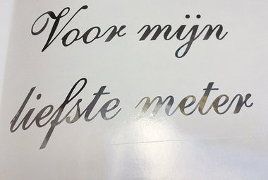VINYL KLEEFTEKST