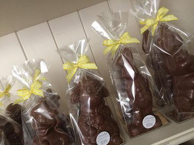 middelgrote paasfiguur callebaut chocolade