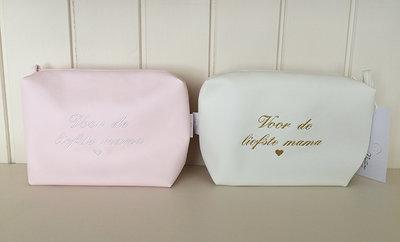 Toilettas toiletzak roze wit moederdag loppem zedelgem
