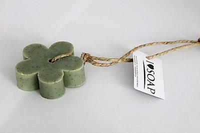 zeep bloem aan touw olijf naturel