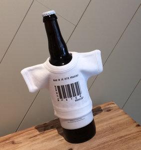 fles met mini t-shirt wil je mijn peter worden