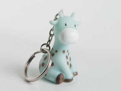sleutelhanger raf de giraf licht blauw