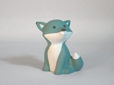 cactus blauw vos césar led nacht lamp groot large fox