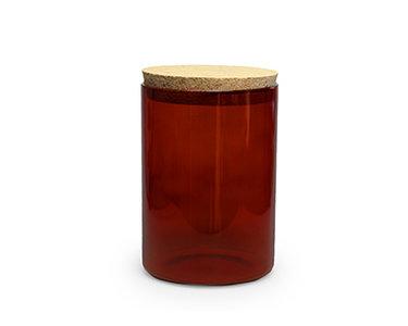 rond glazen pot terracotta 700 ml