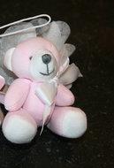 stoffen beertje roze doopsuiker amandine brugge